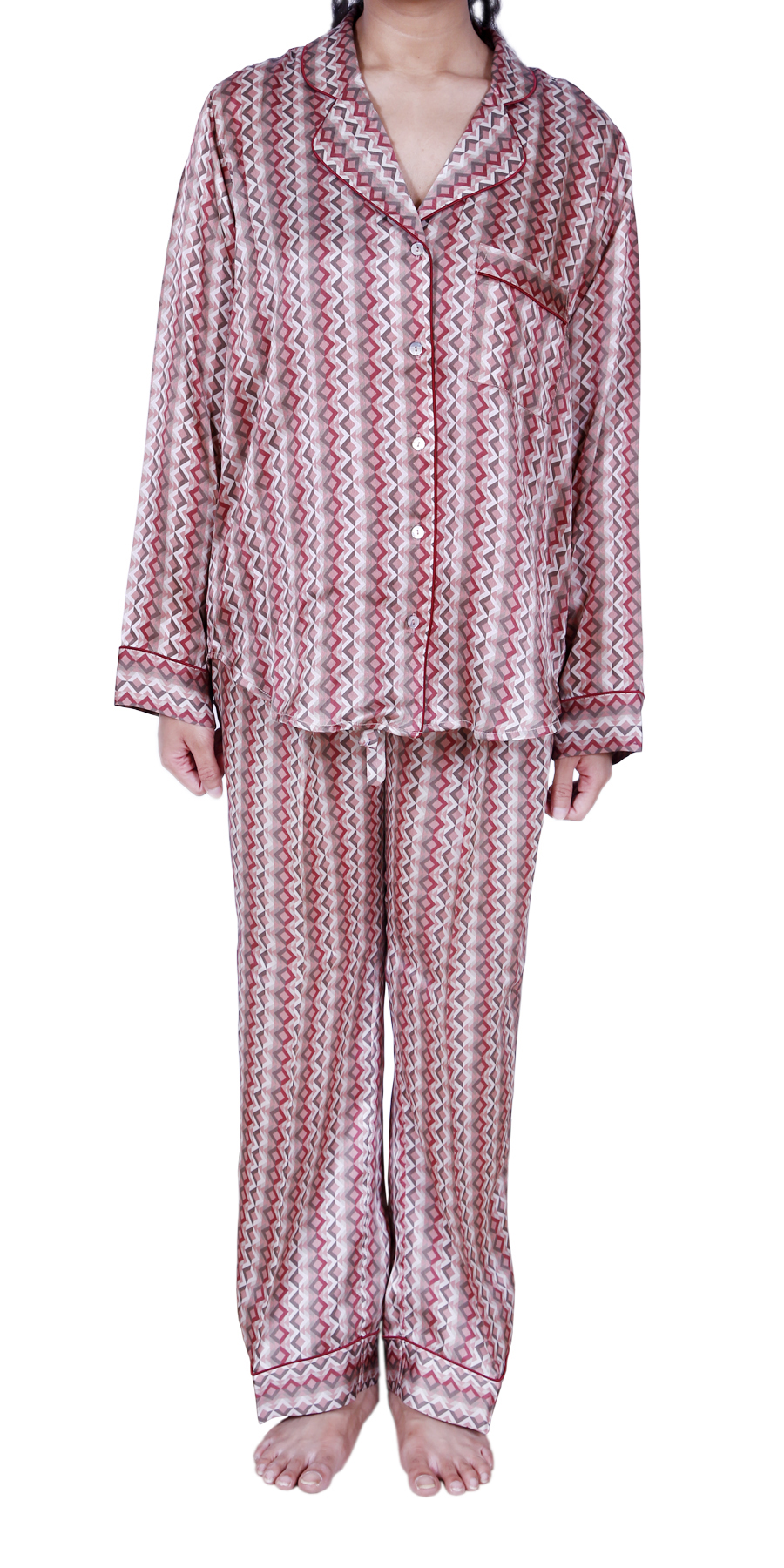 CHEVRON SILK PYJAMAS