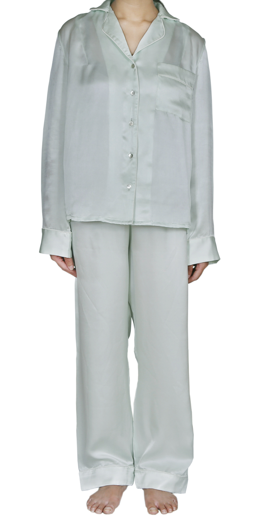 HINTY MINT SILK PYJAMAS