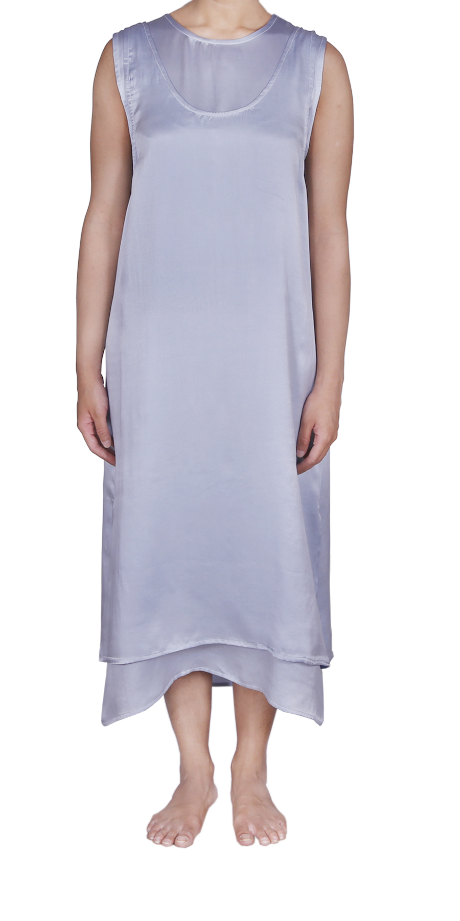 WINTER SKY SLIP DRESS